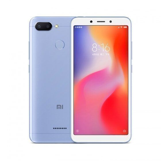 Смартфон Xiaomi Redmi 6 64GB/4GB (Blue/Голубой)