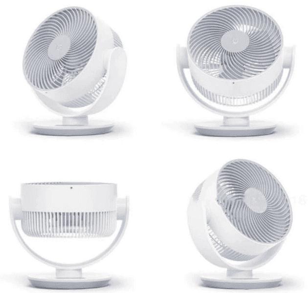 Варианты поворота вентилятора Xiaomi Mijia DC Frequency Conversion Circulating Fan ZLXHS01ZM