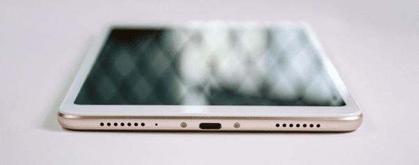 Внешний вид нижней грани планшета Сяоми Ми Пад 4