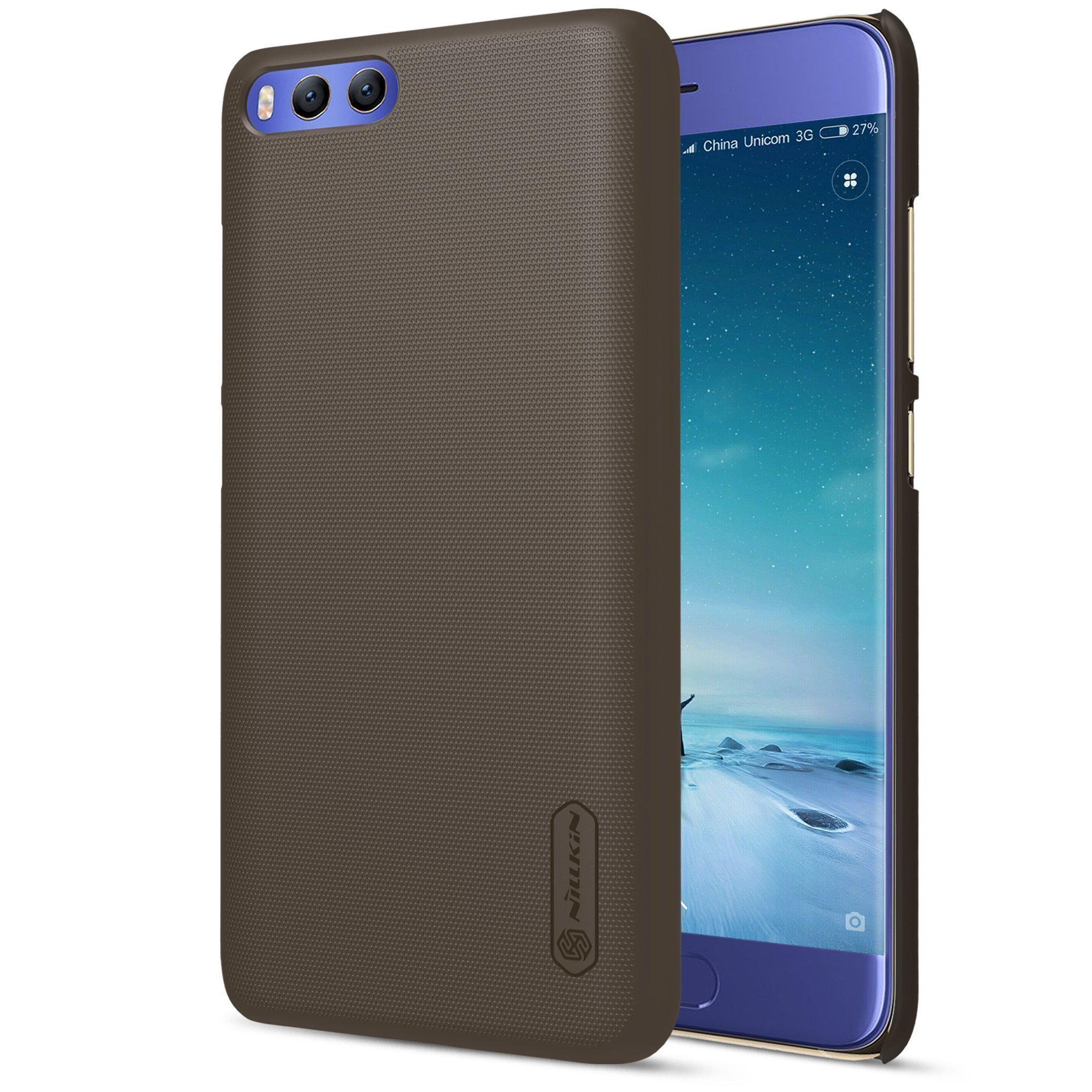 Чехол для Xiaomi Mi6 Nillkin Super Frosted Shield (Brown/Коричневый)