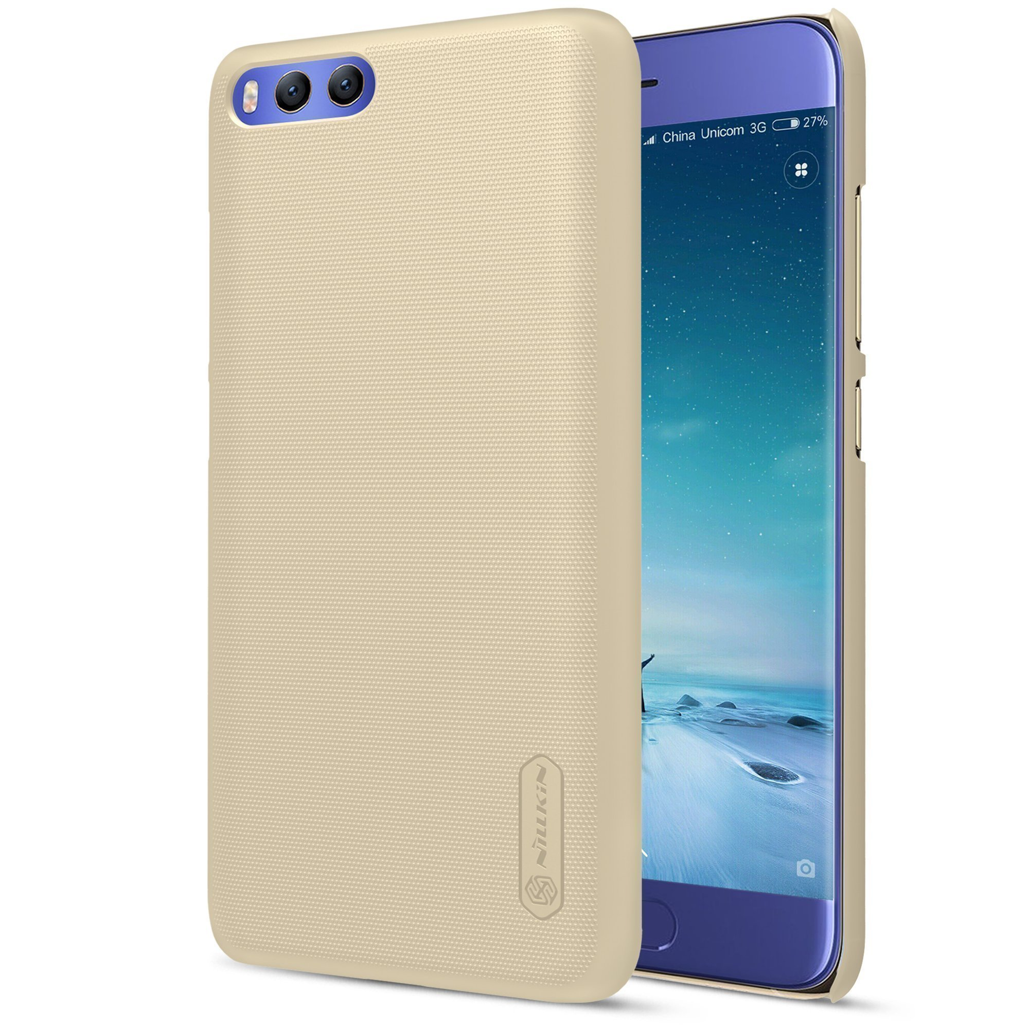 Чехол для Xiaomi Mi6 Nillkin Super Frosted Shield (Gold/Золотой)
