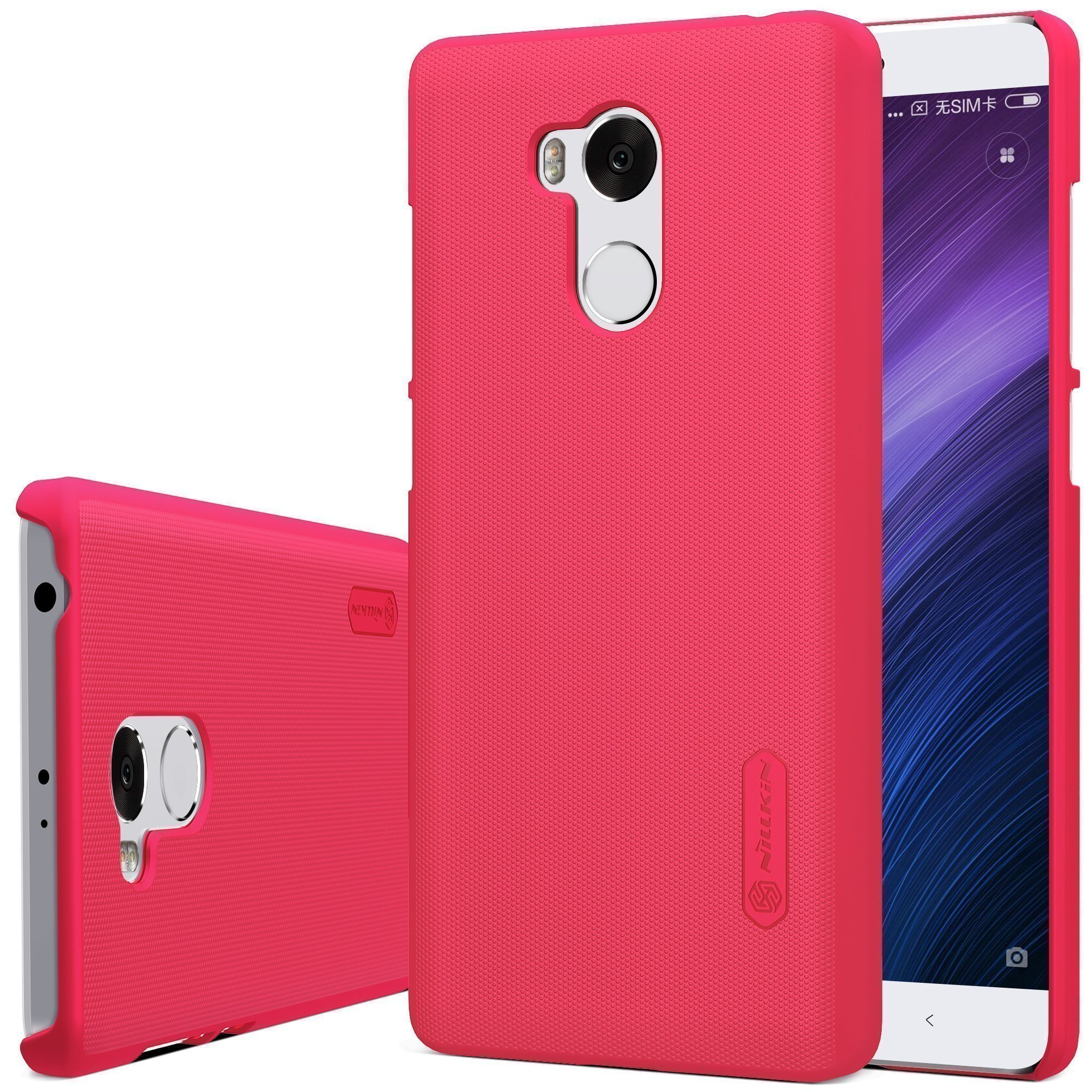 Чехол-бампер для Xiaomi Redmi 4 Pro Nillkin Super Frosted Shield Case (Red/Красный)