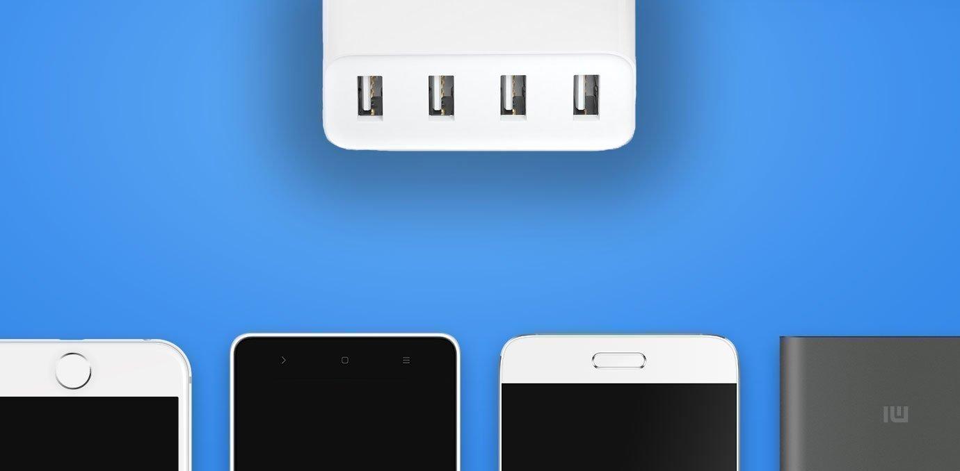 Xiaomi Mi USB Charger 4 Умная зарядка для четверых