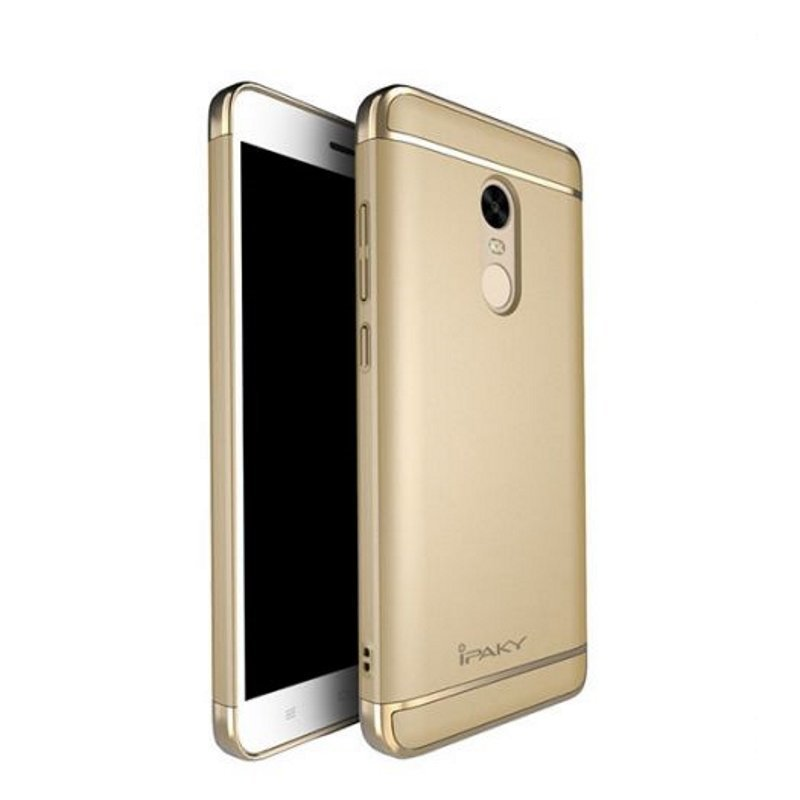 Чехол Ipaky 3 in 1 plating PC для Xiaomi Redmi Note 4 Gold (Золотой)