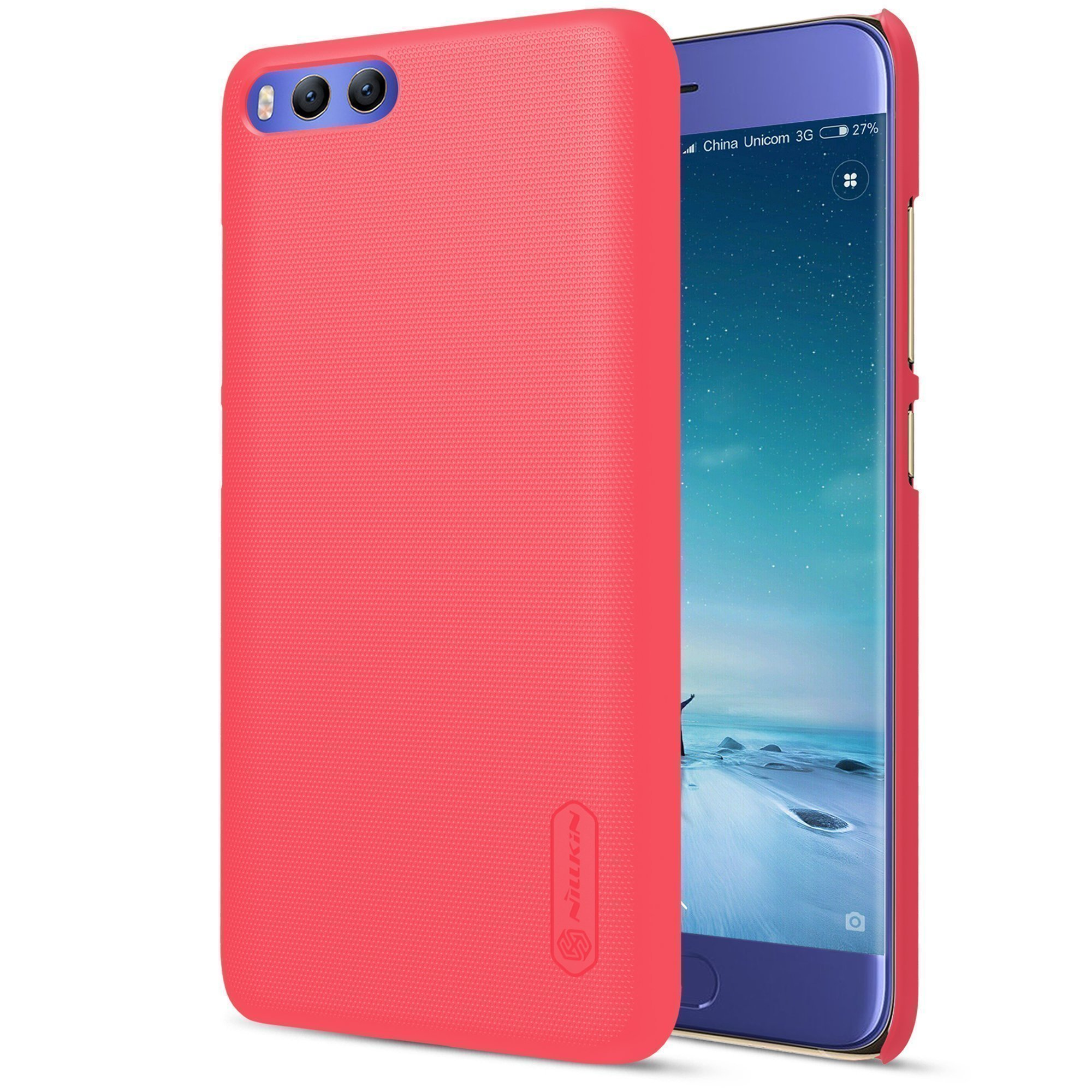 Чехол для Xiaomi Mi6 Nillkin Super Frosted Shield (Red/Красный)