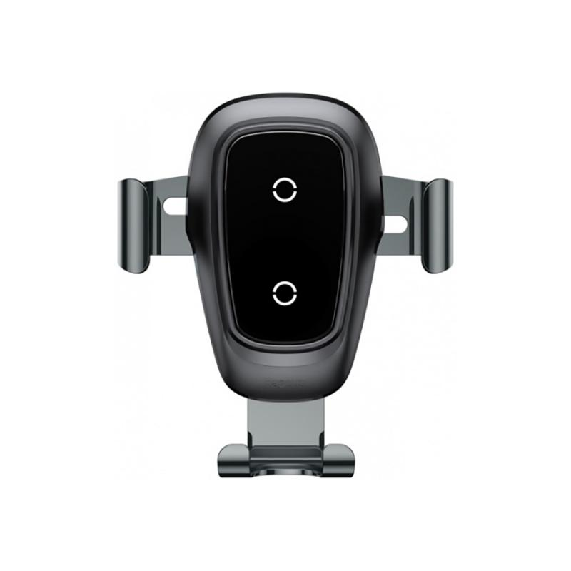 Baseus Metal Wireless Charger Gravity Car Mount (Air Outlet Version) (Black)