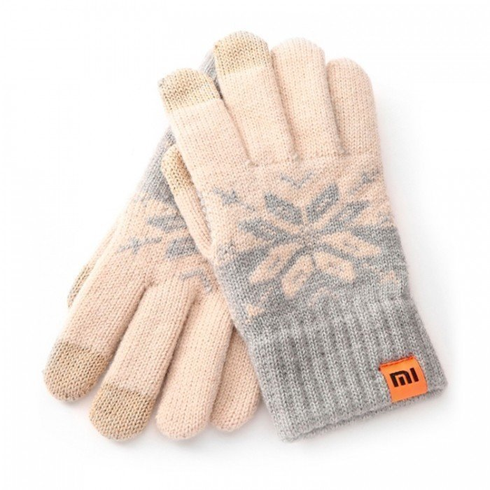 Xiaomi Mi Wool Screen Touch Gloves Woman (Beige Gray)