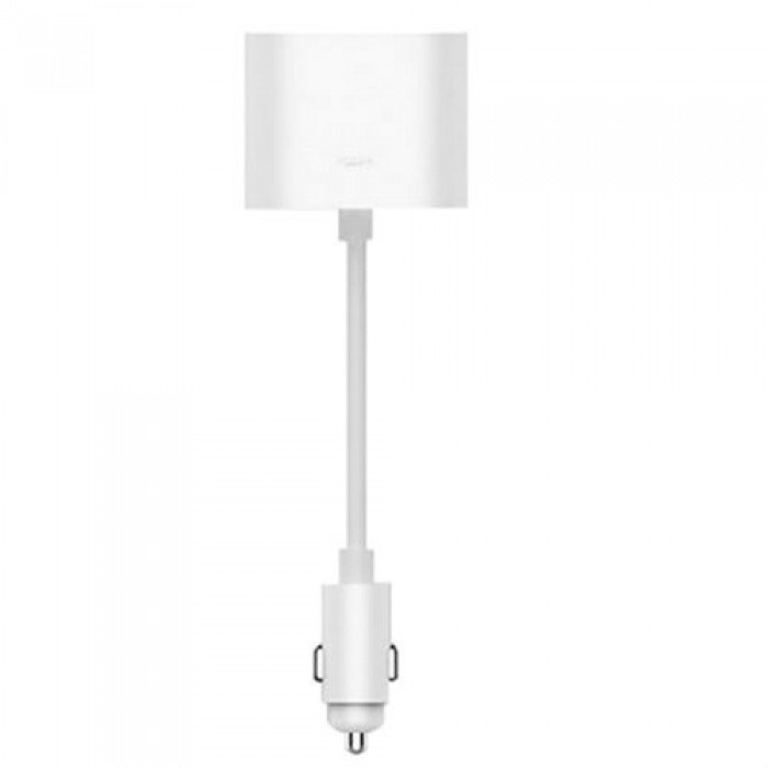 Xiaomi Roidmi 1 to 2 Charger Adapter Lighter Dual Cigarette Splitter (White)