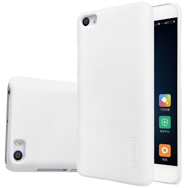 Чехол для Xiaomi Mi5 Nillkin Super Frosted Shield White (Белый)