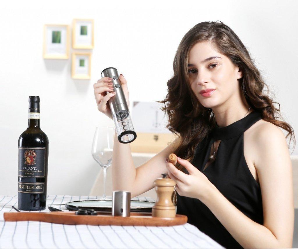 Xiaomi Circle Joy Round Stainless Steel Electric Wine Opener