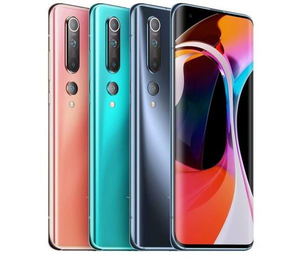Варианты расцветок телефона Ми 10