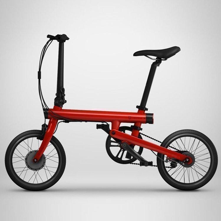 Красный электровелосипед Xiaomi MiJia QiCycle Folding Electric Bike Pro