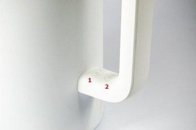 Расположение кнопок управления на смарт чайнике Xiaomi