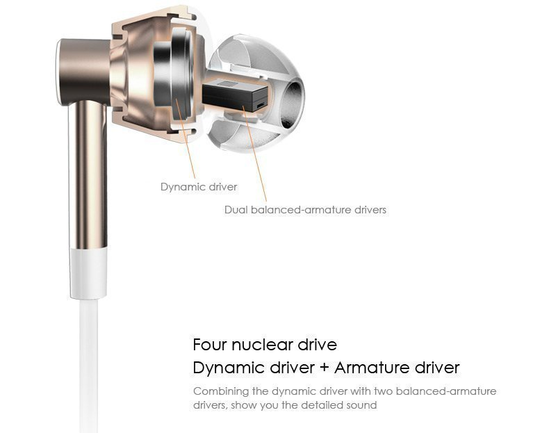 Наушник Xiaomi 1More Dual Driver In-Ear в разрезе