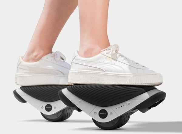 Постановка ног на платформе роликов Сяоми Ninebot Segway Drift W1