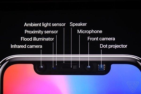 Передние датчики Apple iPhone 10 (X)