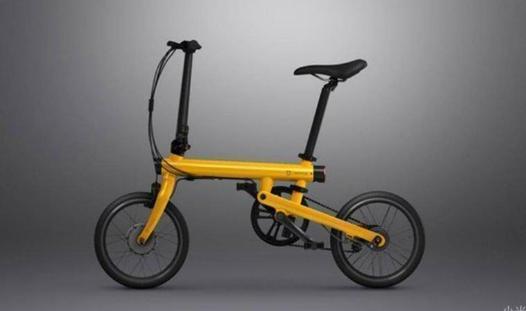 Электровелосипед Сяоми желтого цвета