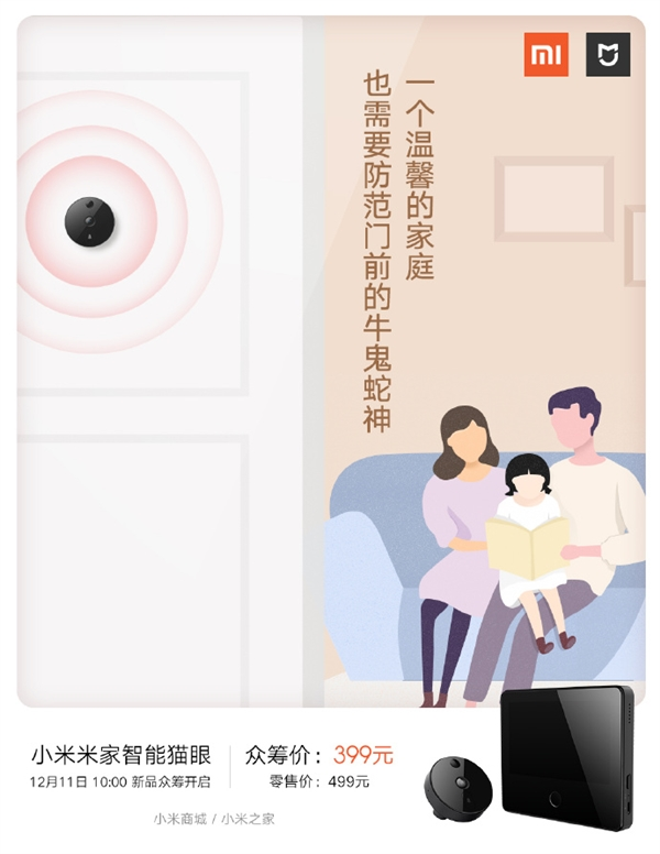 Умный дверной глазок Xiaomi