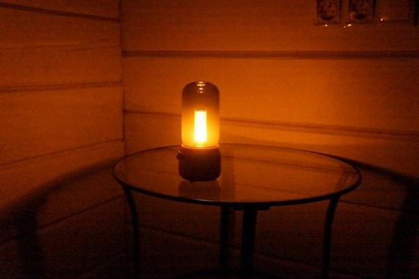 Пример свечения ночного светильника Сяоми